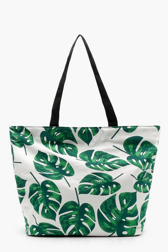 Tropical Leaf Beach Bag