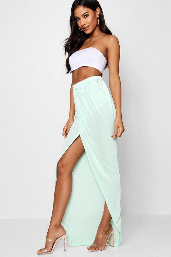 Rosie Draped Wrap Front Maxi Skirt