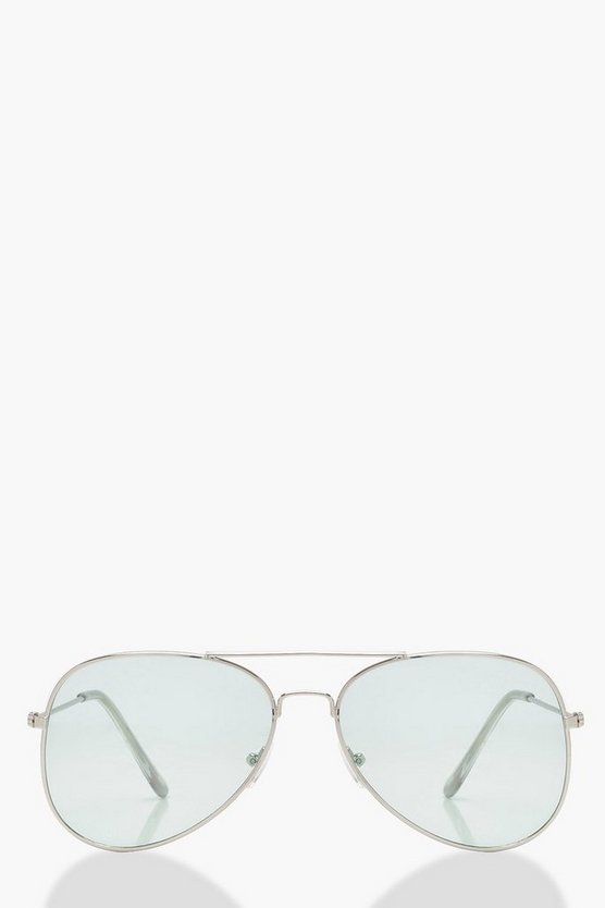 Kelly Mint Green Pastel Lens Aviators