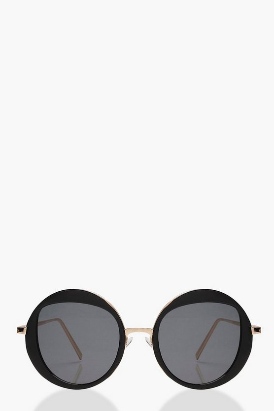 Kerry Round Interest Shape Lens Sunglasses