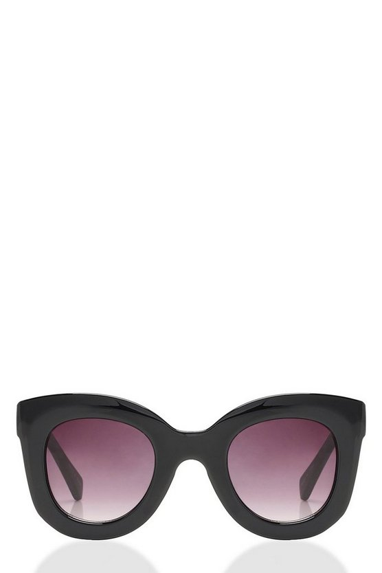 Lucy Black Oversized Frame Sunglasses