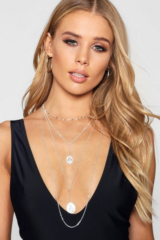 Layered Choker Chain Sovereign Necklace