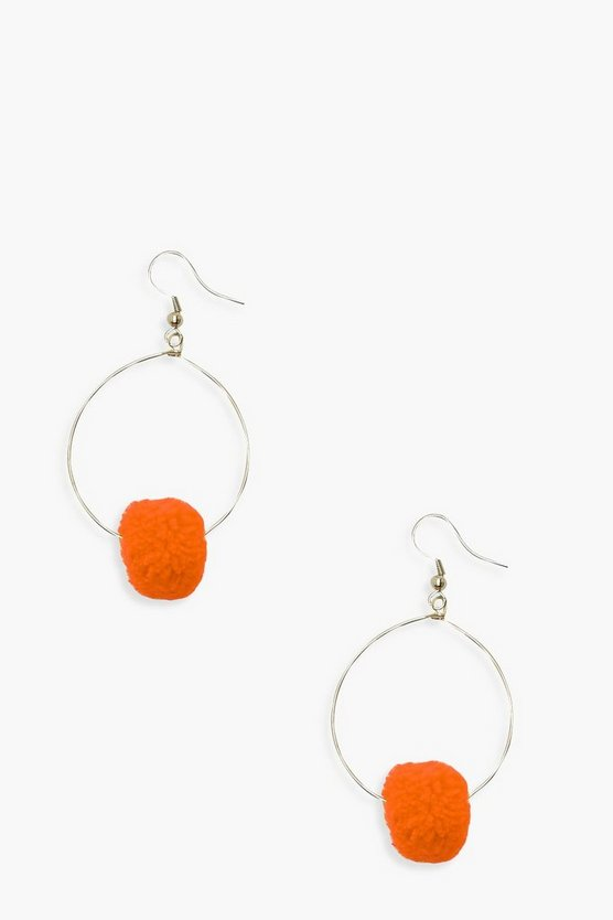 Millie Pom Hoop Earrings