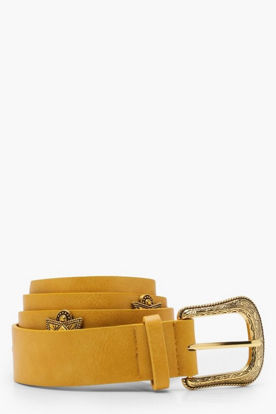 Amy Skinny Studded PU Belt