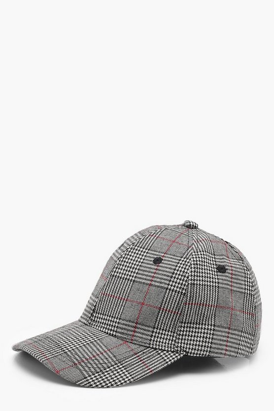Lucy Checked Baseball Cap