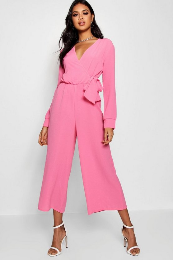 Allie Wrap Over Woven Jumpsuit