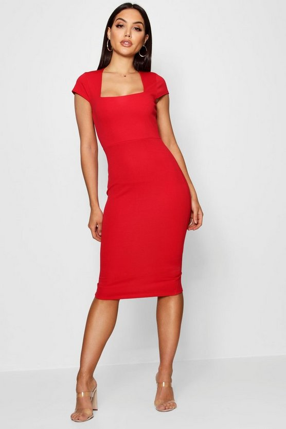 Sarah Square Neck Midi Dress