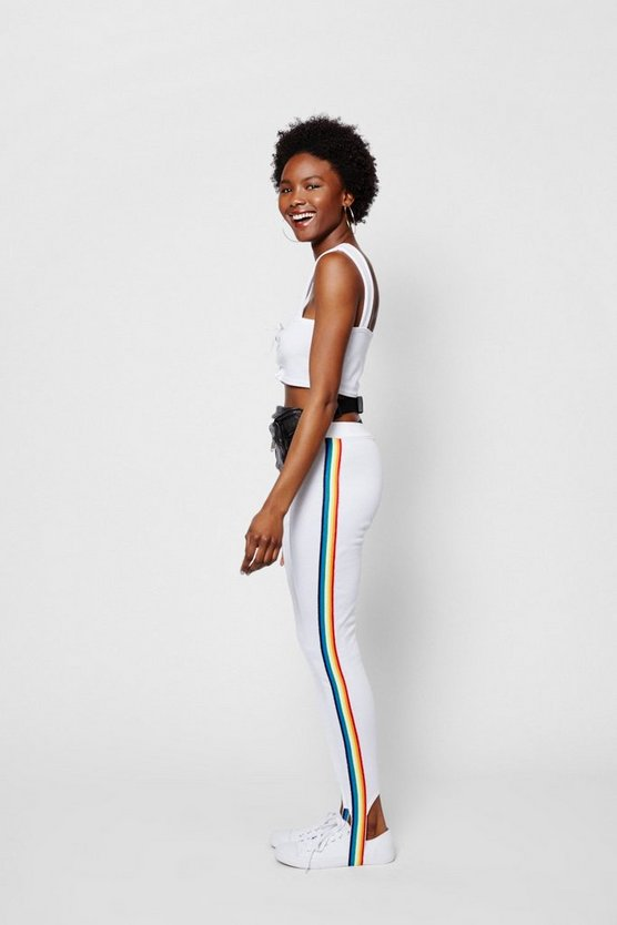 Zendaya Edit Rainbow Tape Stirrup Pant