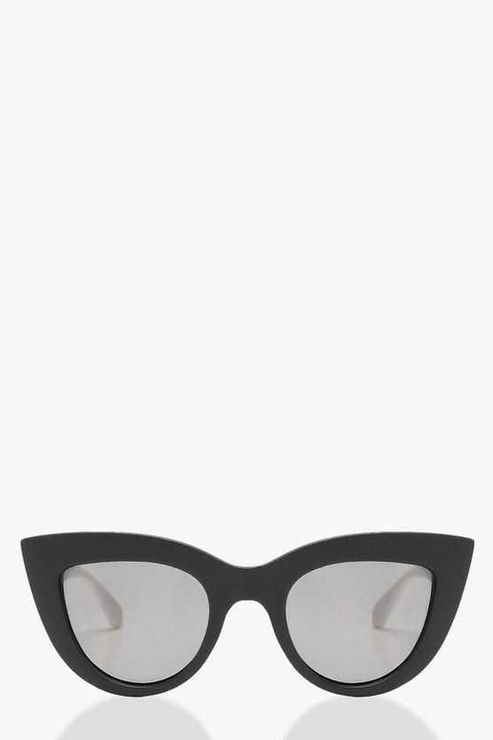 Mia Contrast Monochrome Cat Eye Sunglasses