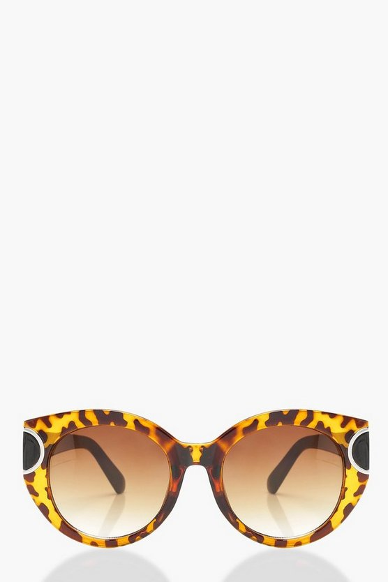 Amy Tortoiseshell Rounded Cat Eye Sunglasses