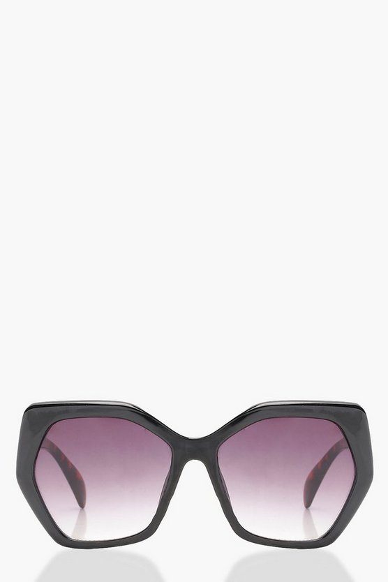 Gradient Lens Oversized Sunglasses