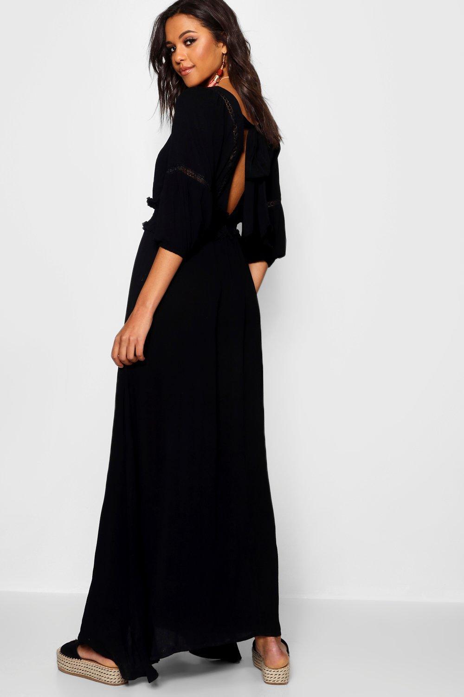 Купить Dresses, Платье миди Boho сборками на талии с открытой спиной, boohoo