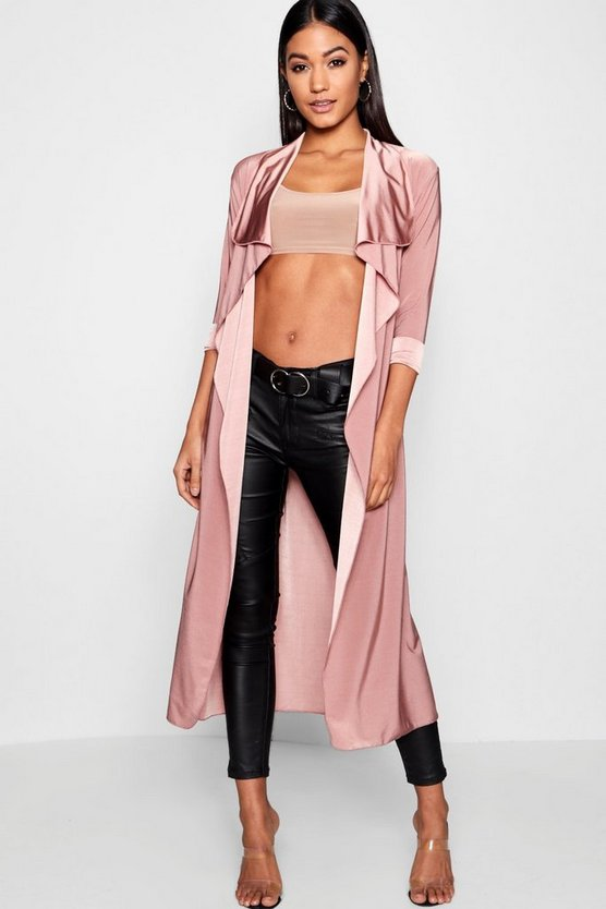 Waterfall Slinky Belted Duster by Boohoo