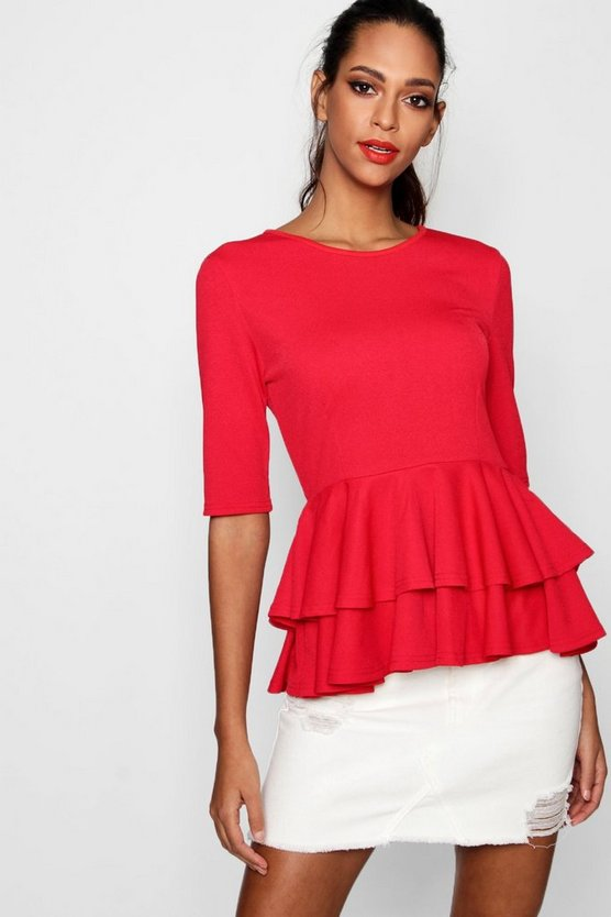 Hallie Peplum Shell Top