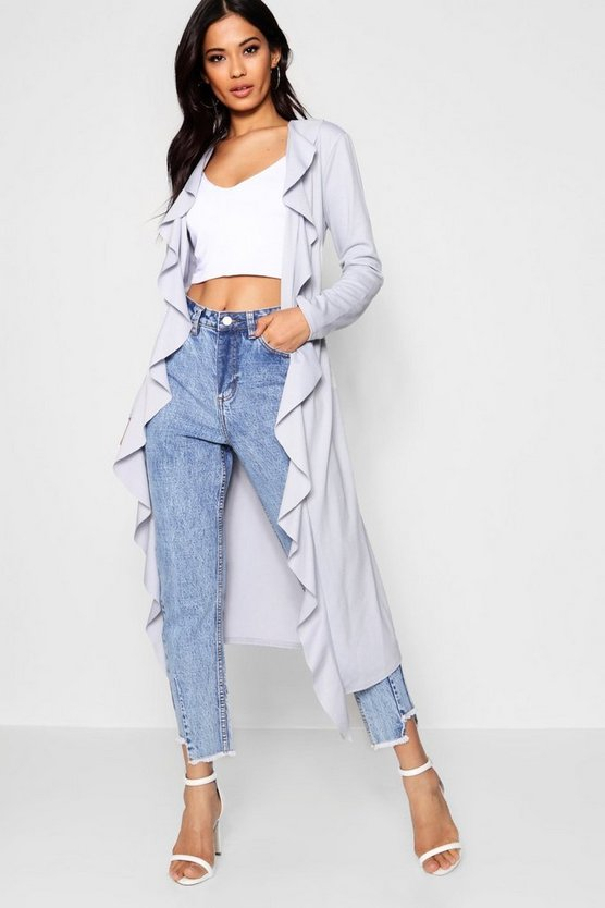 Katie Ruffle Detail Duster