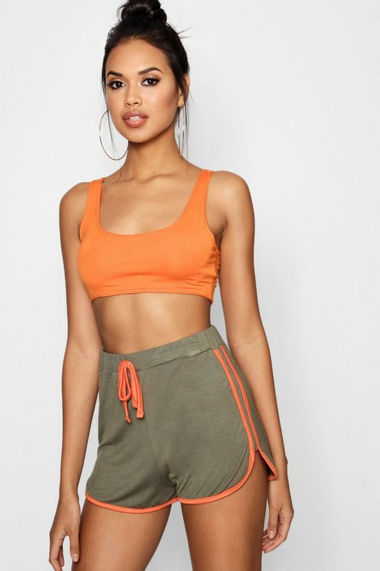 Yasmin Contrast Trim Runner Shorts