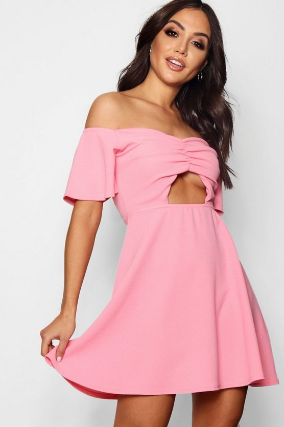 Arielle Cut Work Skater Dress