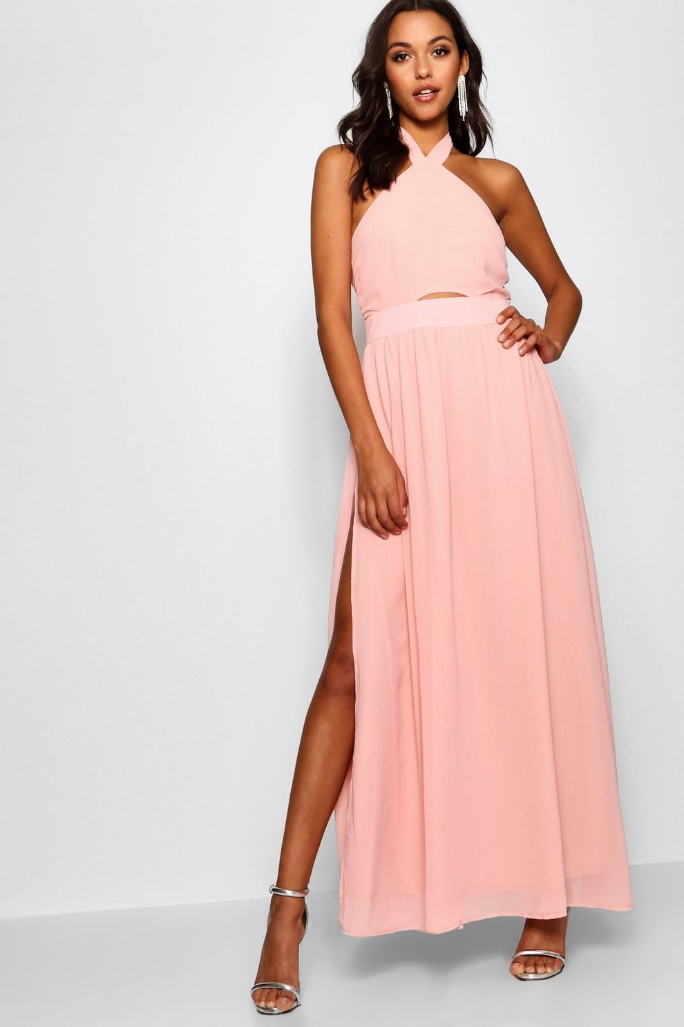 Discount Amazon Boohoo Maisy Strappy Cut Out Detail Maxi Dress Cheap ...