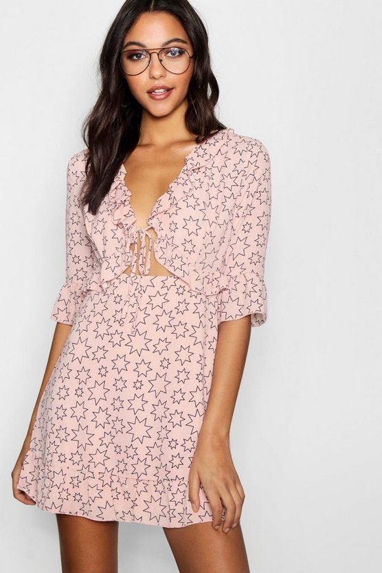 Kay Star Cut Out Tea Dress