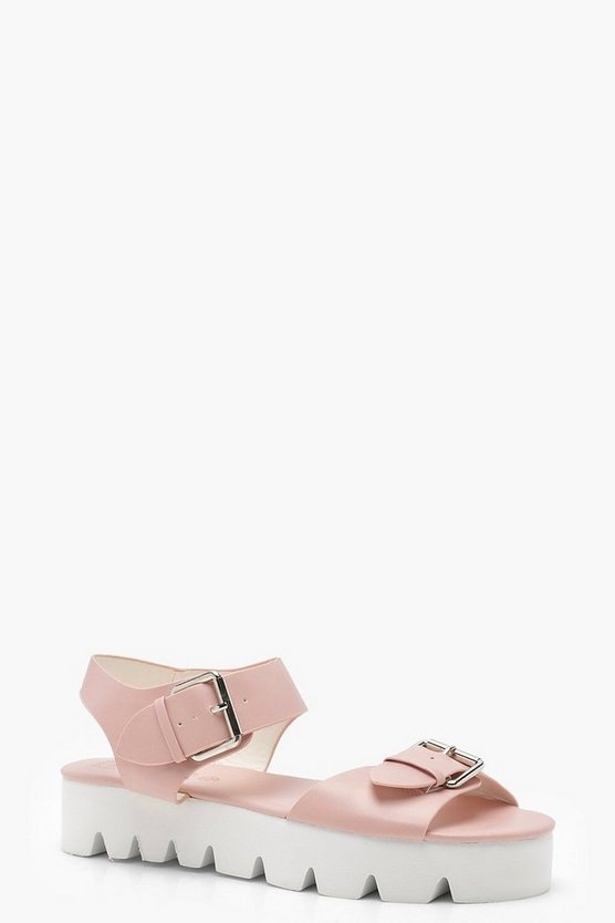 Buckle Detail Cleated Sandals