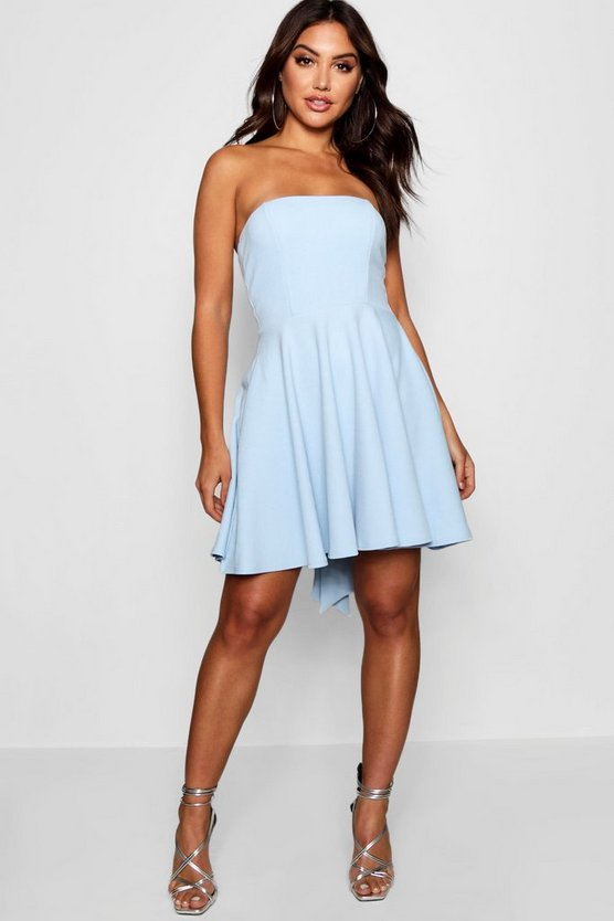 Exaggerated Bow Back Skater Dress