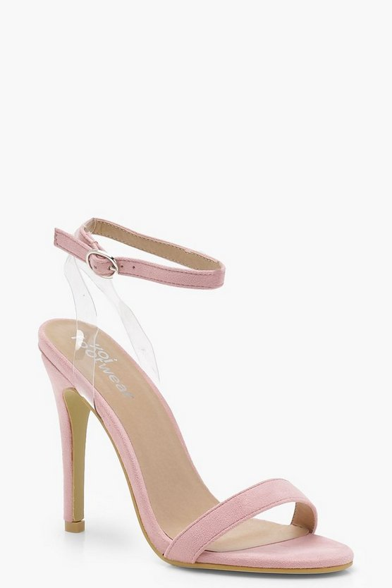 Megan Clear Strap Barely There Heels