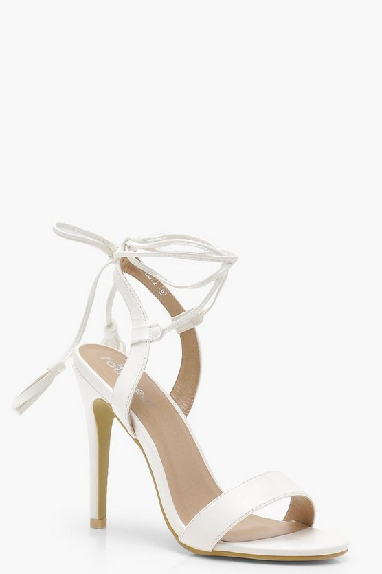 Amber Wrap Strap Detail Barely There Sandals