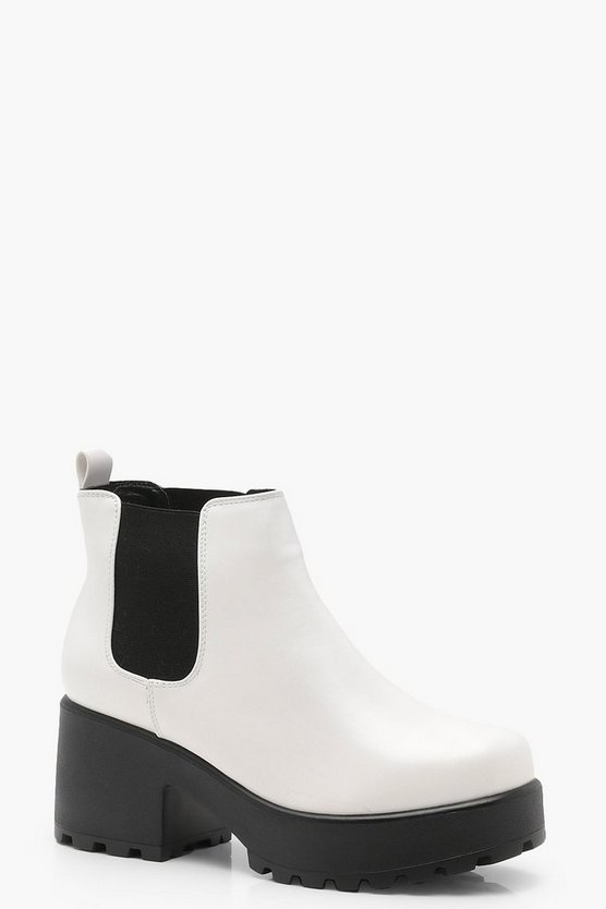 Leah Cleated Pull On Chelsea Boots