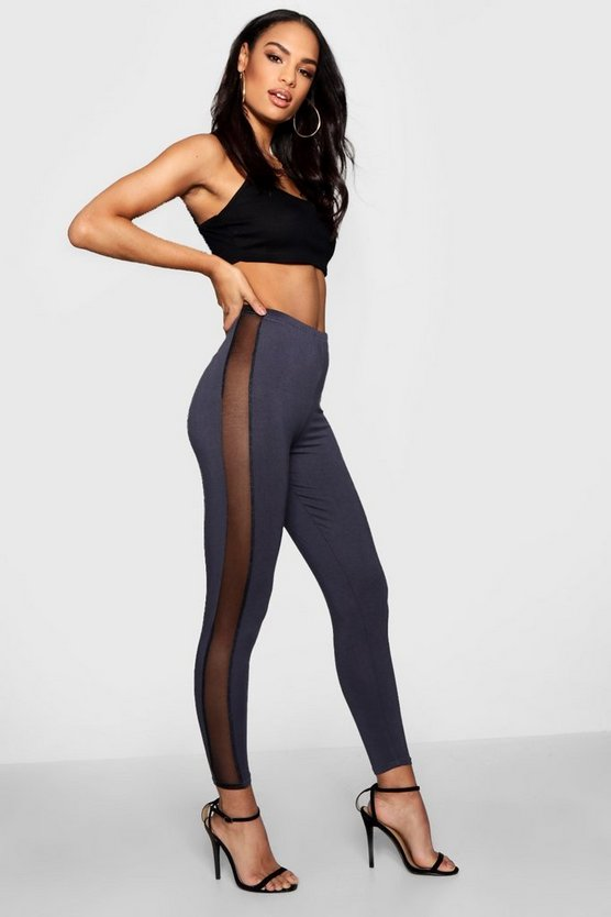 Zoe Tonal Mesh Panel High Waist Leggings