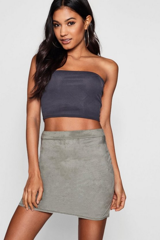 Stretch Suedette Mini Skirt