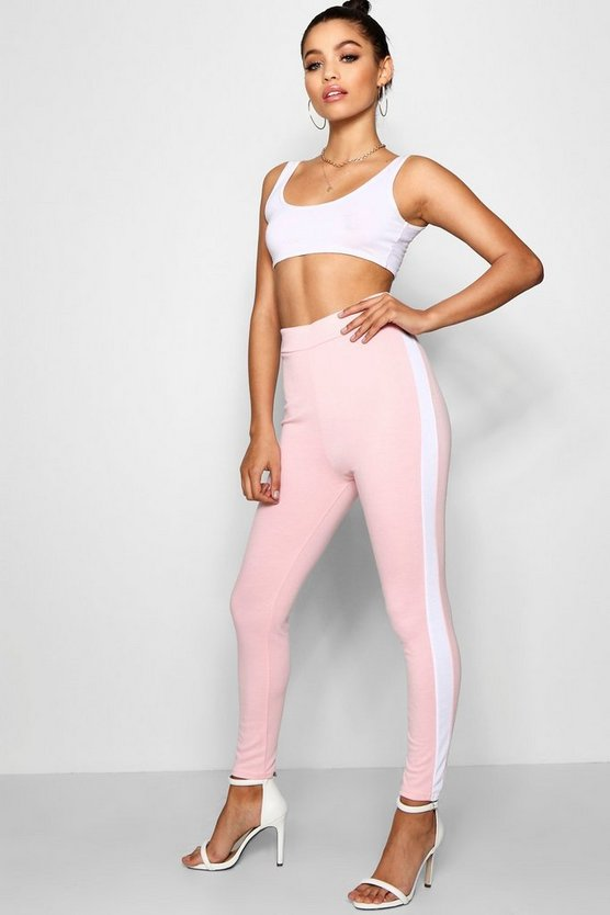 Ponte Contrast Side Panel Leggings