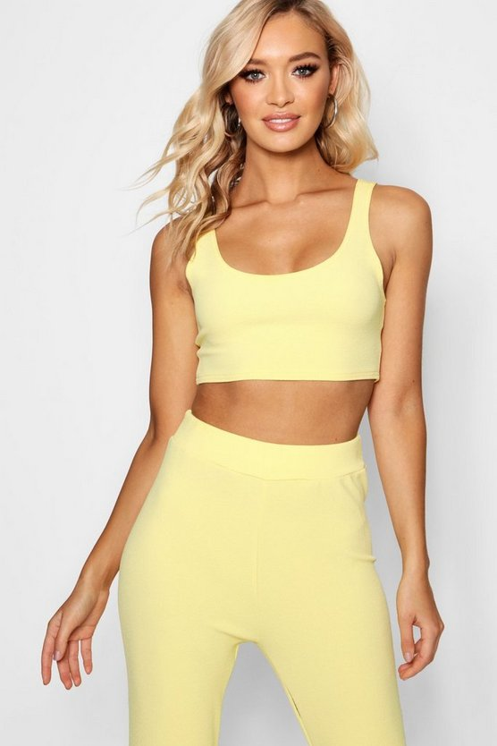 Pastel Crepe Crop Top