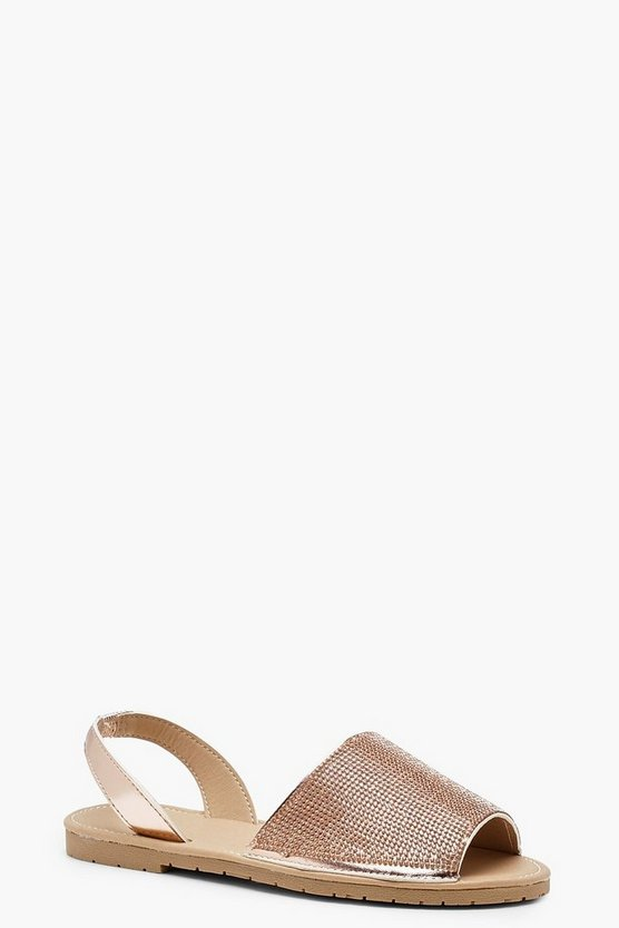 Anna Diamante Sling Back Sandals