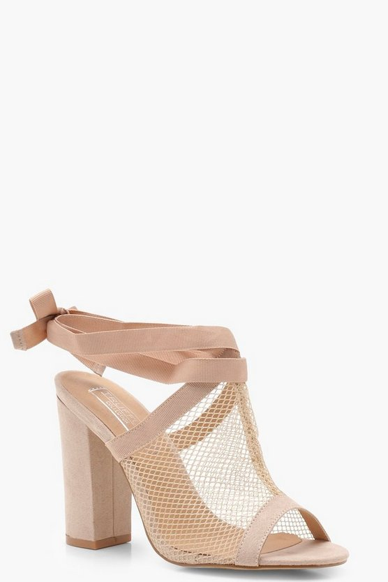 Mesh Cage Strap Sandals