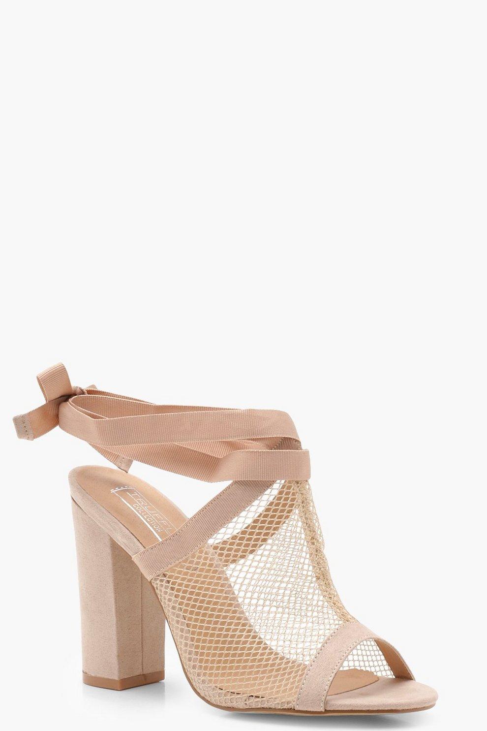 Venta Comercial Hannah sandali con cinghiette e gabbia a rete boohoo beige Floreale Amazon Descuento Descuento 2018 kOs6e