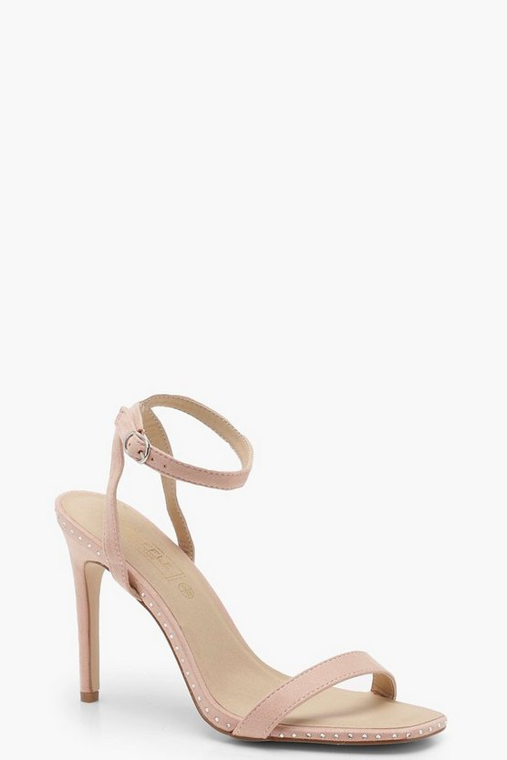 Rose Square Toe Barely There Heels