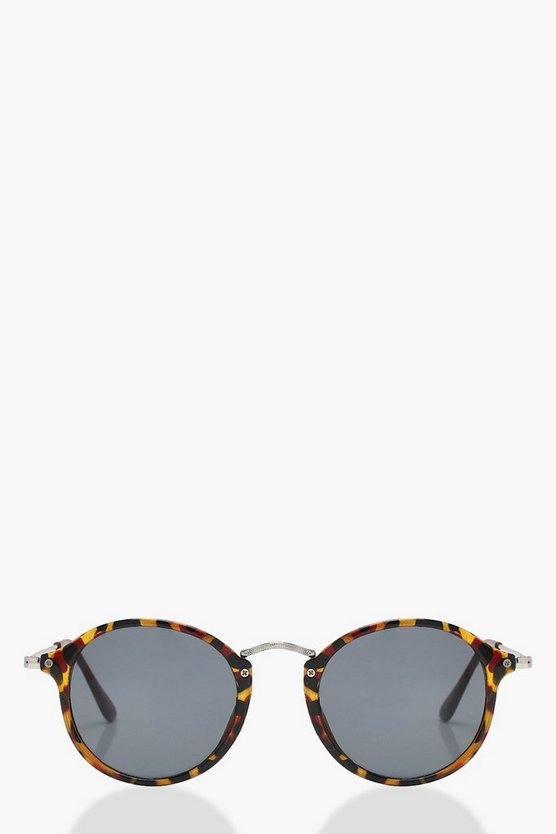 Kerry Tortoise Frame Round Sunglasses