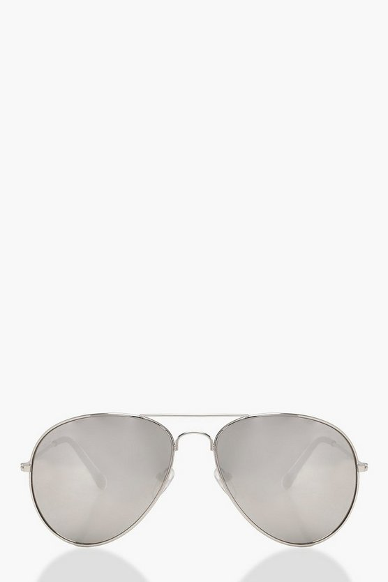Ivy Smoke Lens Aviator Sunglasses