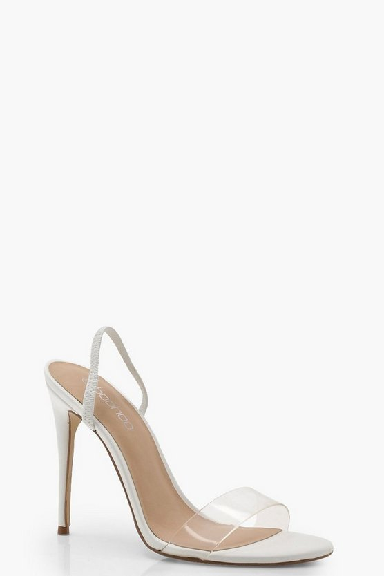 Eleanor Clear Strap Sling Back Sandals