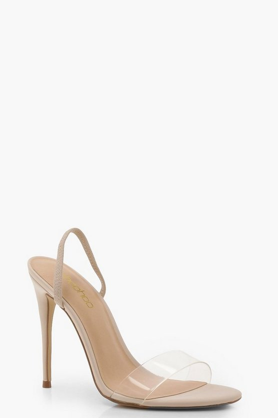 Emma Clear Strap Sling Back Sandals