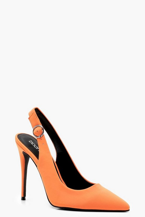 Amber Sling Back Pointed Court Shoes