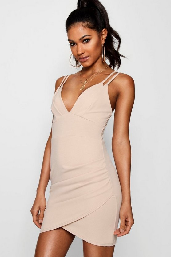 Strappy Wrap Skirt Micro Mini Dress