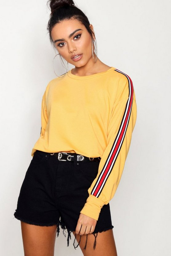 Amy Sports Stripe Batwing Sweat