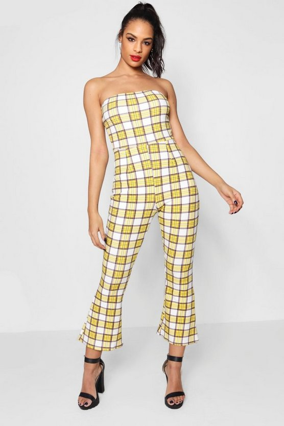 Check Bandeau Jumpsuit