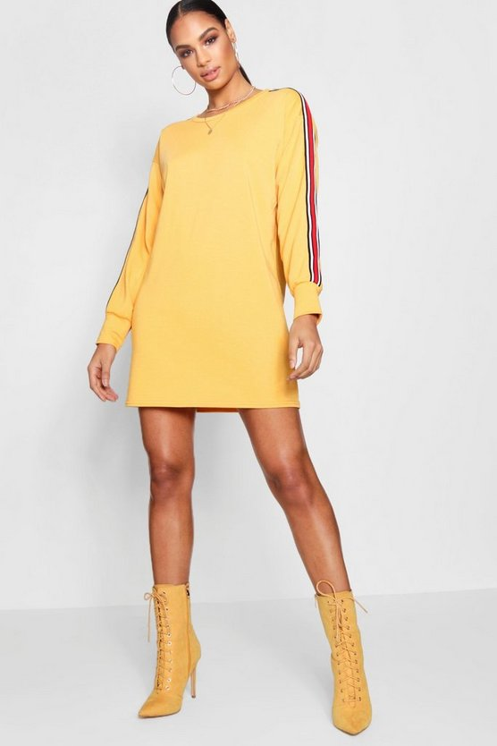 Lea Sports Stripe Sweat Dress