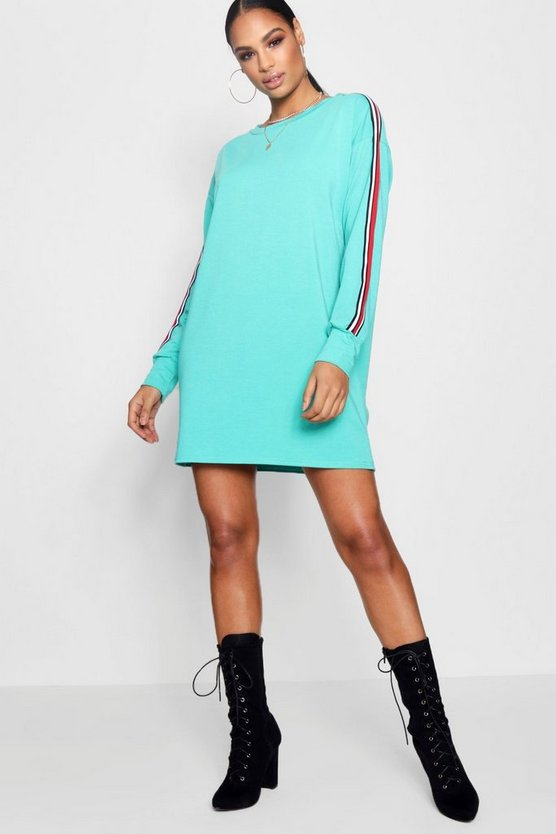 Sports Stripe Sweat Dress