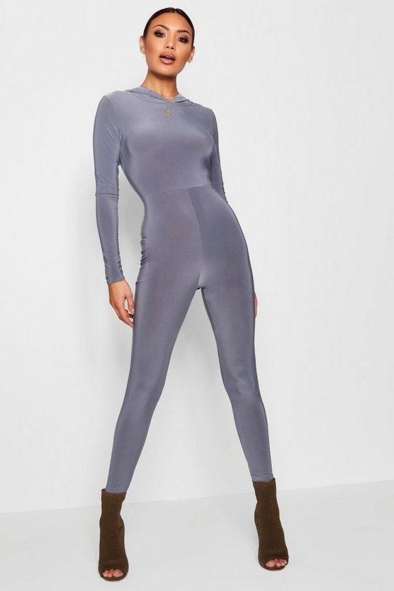 Hooded Cropped Unitard