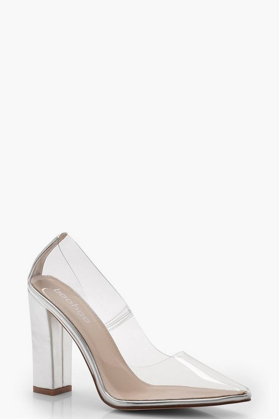 Martha Perspex Block Heel Courts