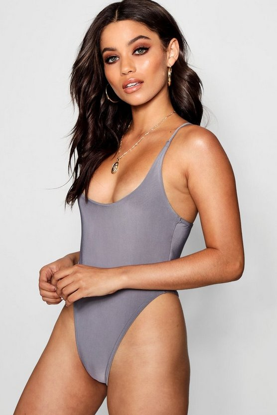 Mollie Square neck Cross Back Slinky Body