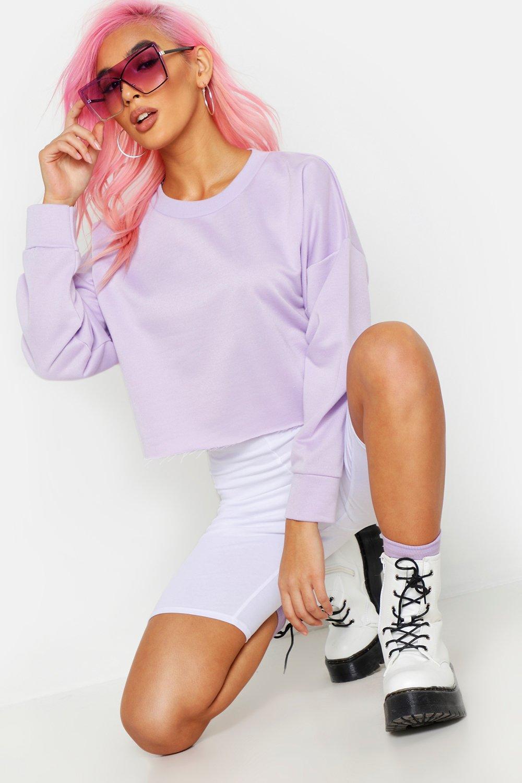 Купить Athleisure, Объемный свитер свободного кроя с необработанным нижним краем, boohoo
